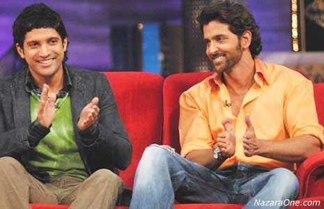 Hrithik and Farhan on Oye its friday