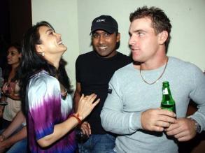 Preity Zinta with IPL team members
