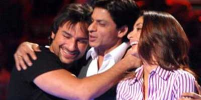 Saif & Kareena with Shahrukh