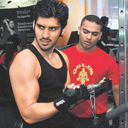 Sameer Dattani in gym