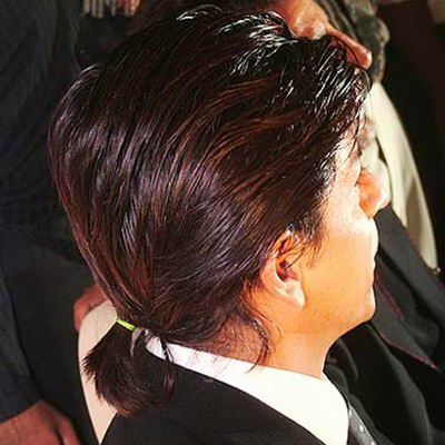 Shahrukh khan Pony Tail